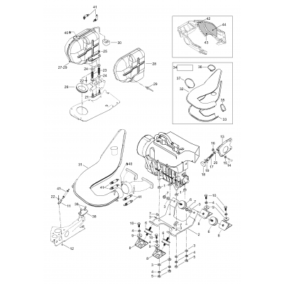 Engine Mount Plate/Muffler