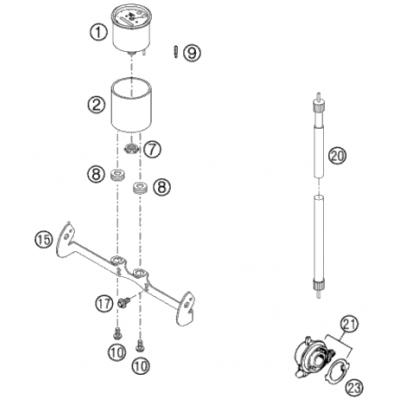Speedometer 125-380 Exc '2000