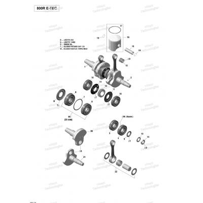 Коленвал, Поршни двигателя - 800R E-TEC