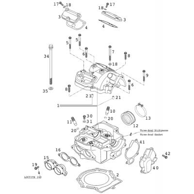 Cylinder Head 400/520 Racing 2001