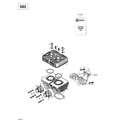 Cylinder, Intake Exhaust Manifold (377)