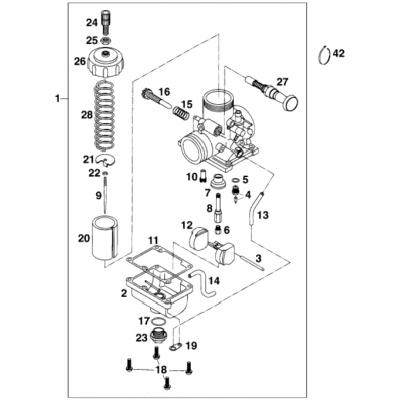 Carburetor Vm24-489 65Sxr '98