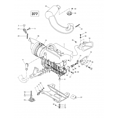 Engine Support And Muffler (377)