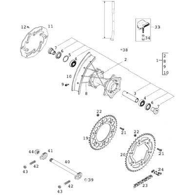 Rear Wheel 125-380 2001