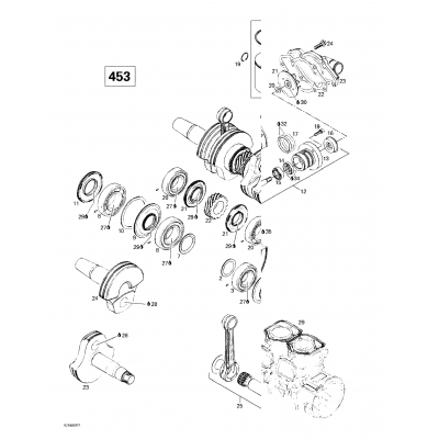 Crankcase, Water Pump And Oil Pump (593)