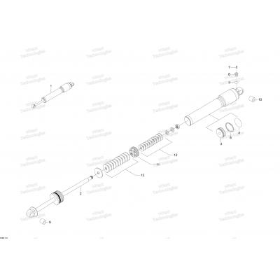 Передний амортизатор - 800R E-TEC