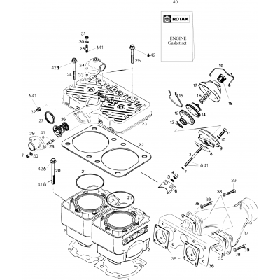 Cylinder And Exhaust Manifold