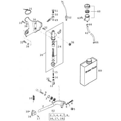 Rear Brake Operating System 125-380 2001