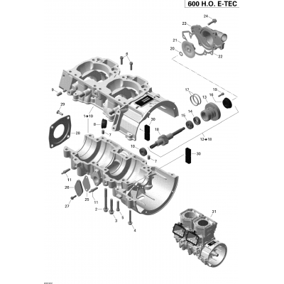 Crankcase And Water Pump