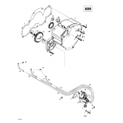Ignition Housing Oil Pump (699)