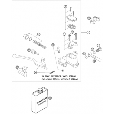 Hand Brake Cylinder Brembo 125-380 2001