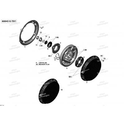 Ручной стартер - 600HO E-TEC