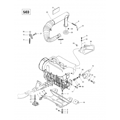 Engine Support And Muffler (503)