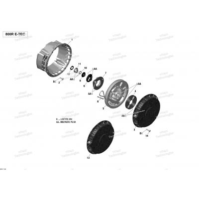 Ручной стартер - 800R E-TEC